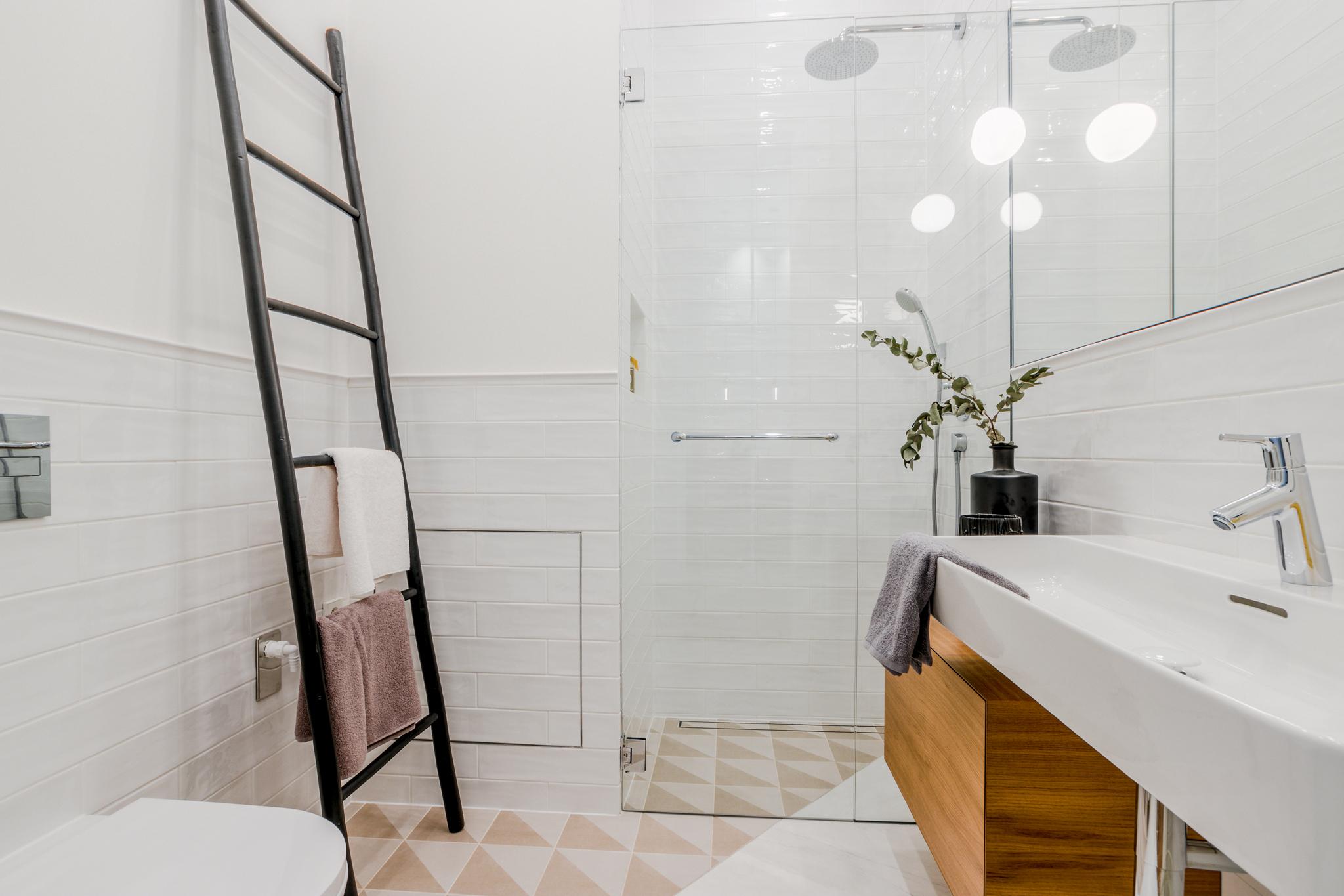 Koupelna vzorového bytu