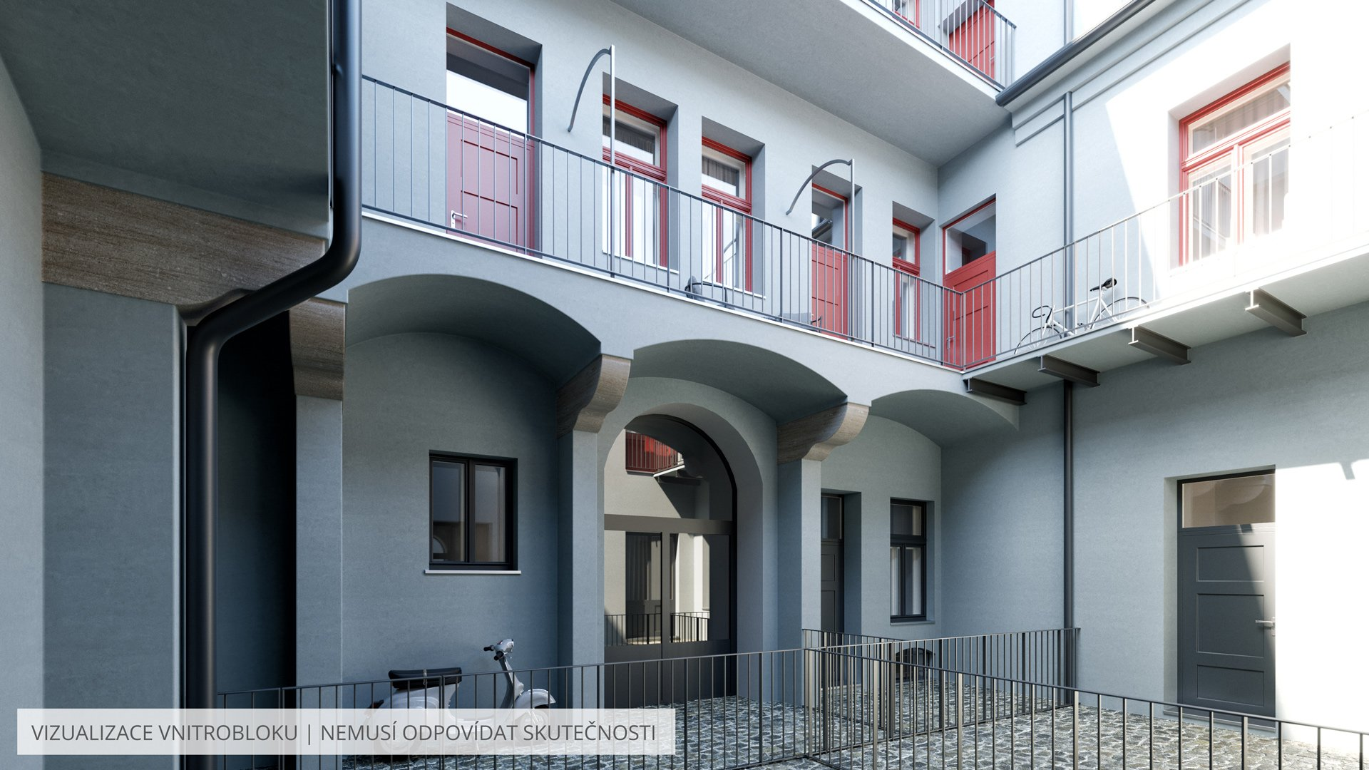 Rezidence u Negrelliho | PSN | vnitroblok