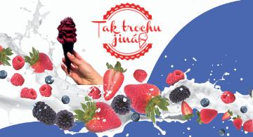 Točená zmrzlina s kousky ovoce
