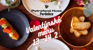 Valentýnské menu v Potrefené Huse