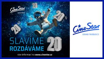 CineStar slaví 20. narozeniny