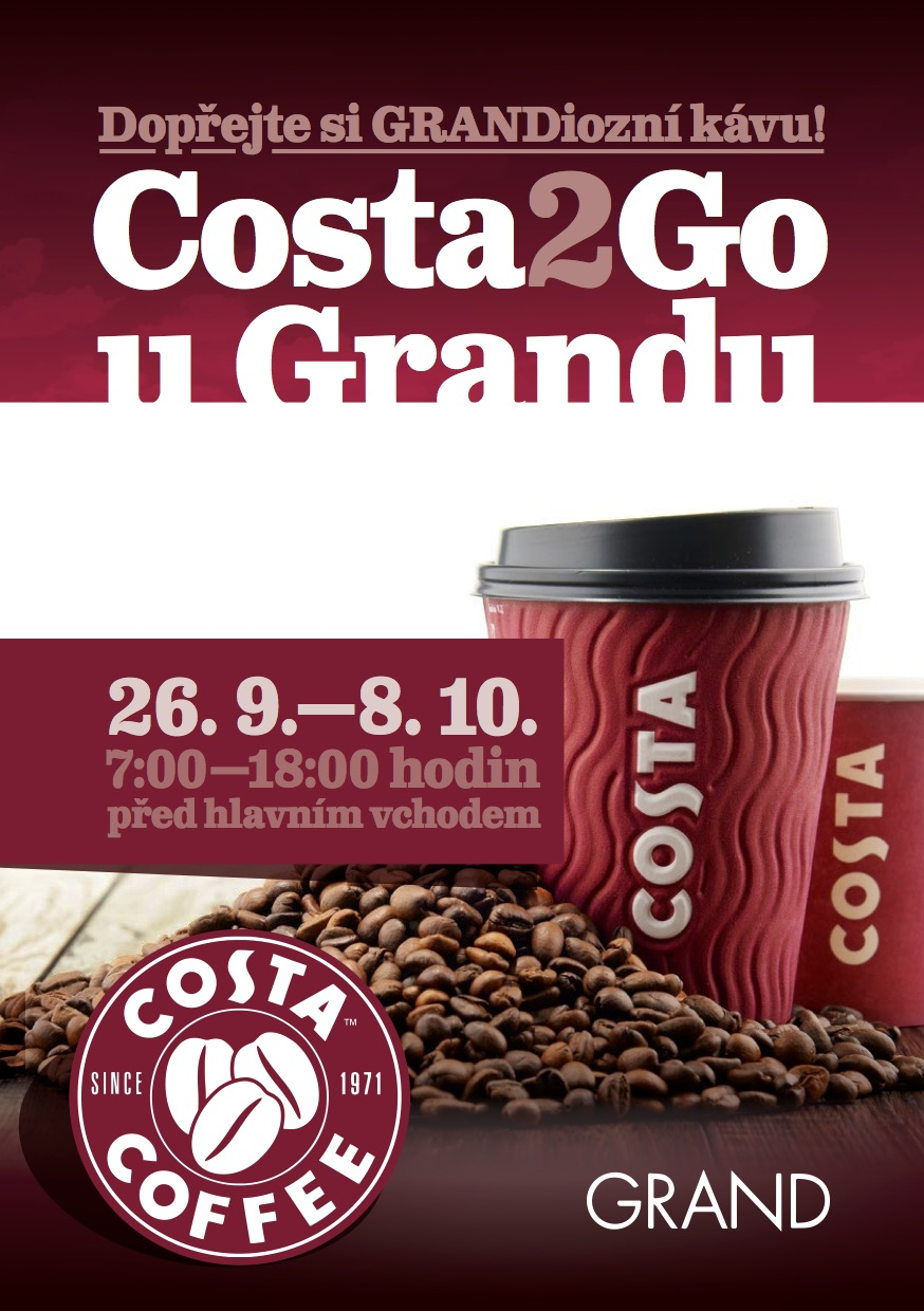 COSTA COFFEE před OC GRAND