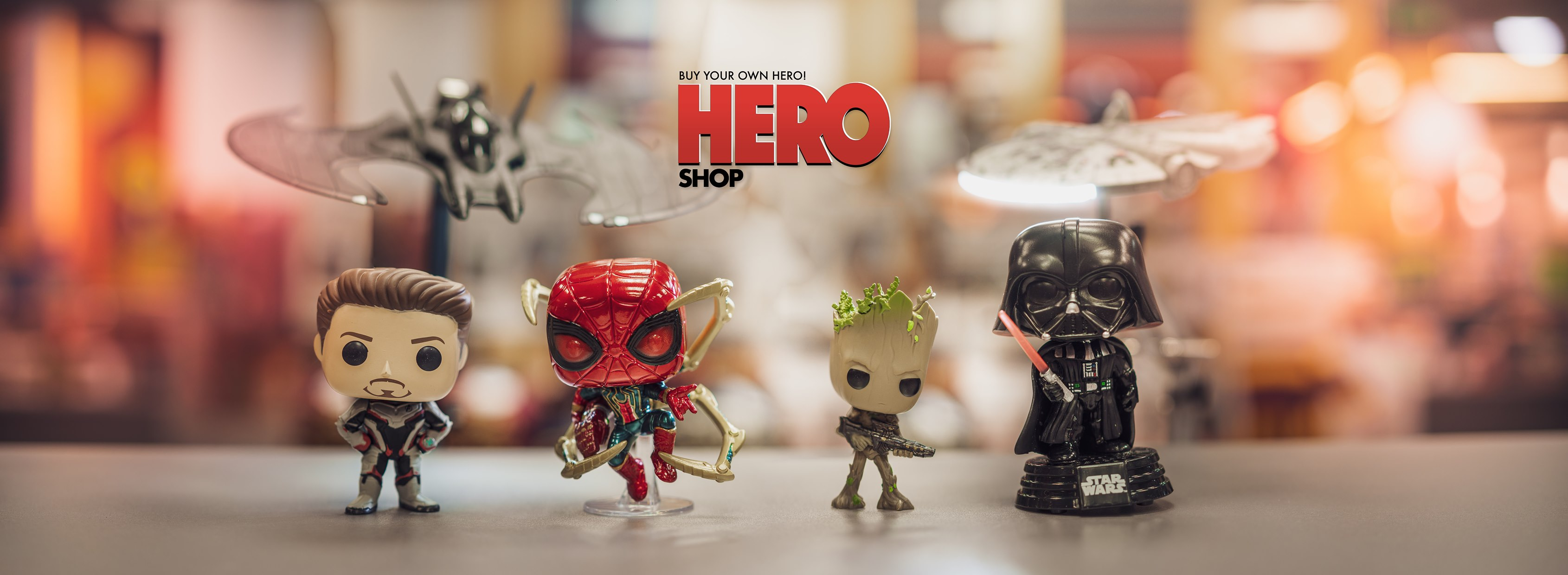 HERO SHOP - obchod plný hrdinů