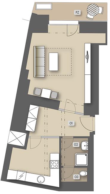 Přípotoční 35 - non-housing unit - atelier No.  3