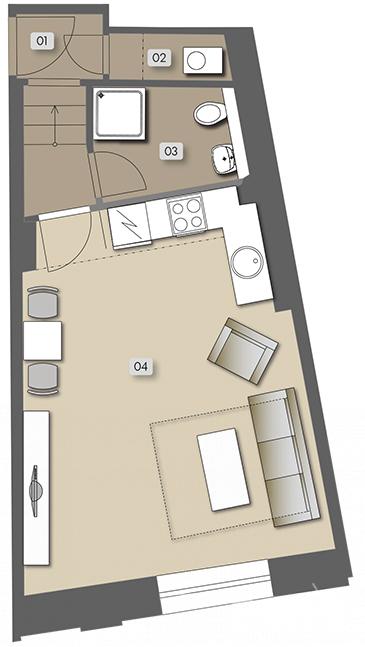 Přípotoční 35 - nehousing unit atelier No.  12