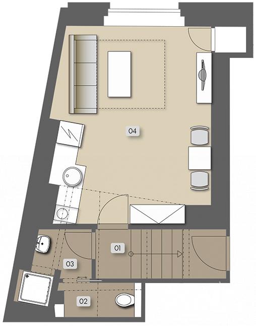 Přípotoční 35 - nehousing unit atelier No.  15