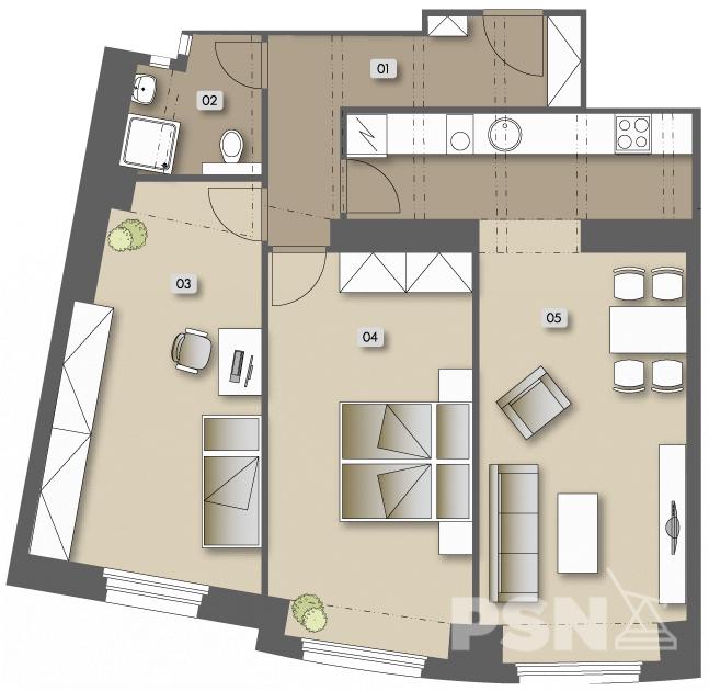 Přípotoční 35 - bytová jednotka Č. 33