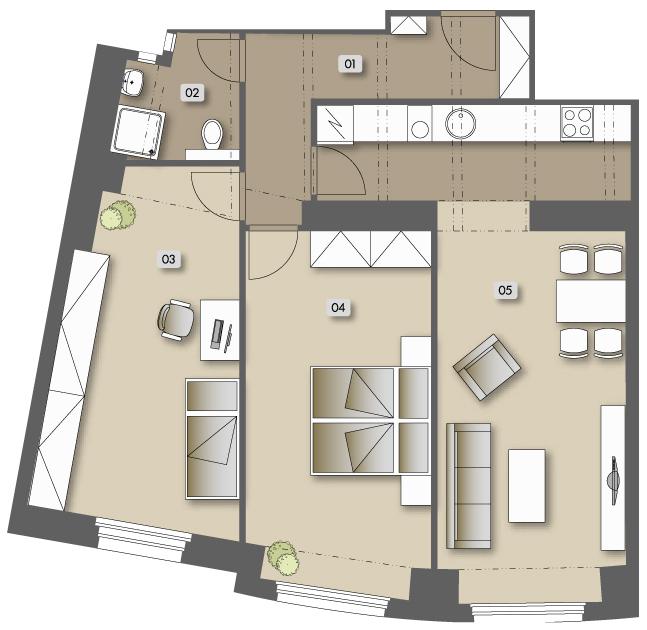 Přípotoční 35 - housing unit No.  53