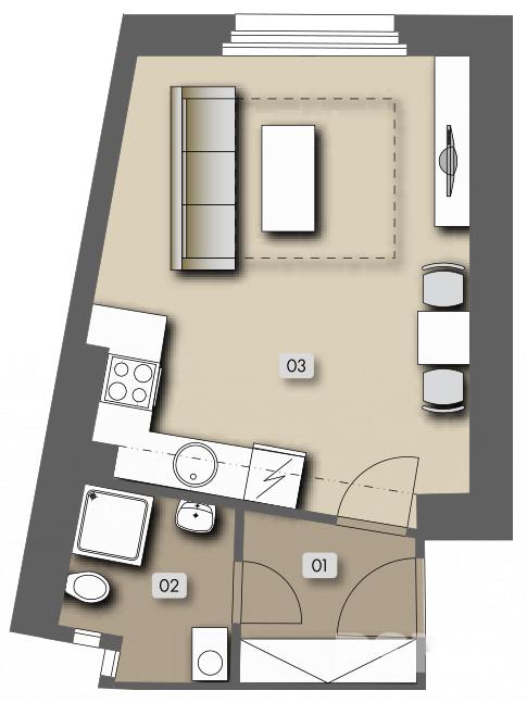 Přípotoční 35 - housing unit No.  54