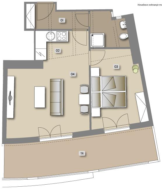 Přípotoční 35 - housing unit No.  62